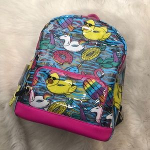 Clear Betsey Johnson Pool Toy Backpack